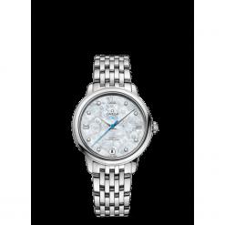 ZEGAREK OMEGA DE VILLE 424.10.33.20.55.004. Niebieskie zegarki damskie OMEGA, szklane. Za 18100,00 zł.
