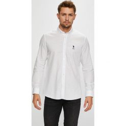 U.S. Polo - Koszula. Szare koszule męskie na spinki marki U.S. Polo, l, z bawełny, button down, z długim rękawem. W wyprzedaży za 299,90 zł.