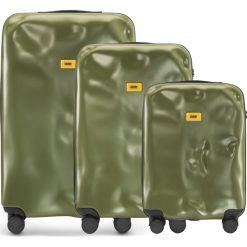 Walizki Icon w zestawie 3 el. matowy oliwkowy. Szare walizki marki Crash Baggage, z materiału. Za 2628,00 zł.