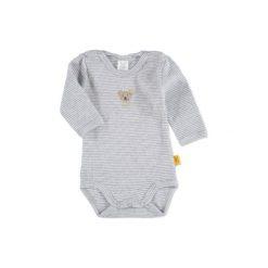 SANETTA Baby Body z długim rękawem grey melange - szary. Szare body niemowlęce marki Steiff, z bawełny, z długim rękawem. Za 57,00 zł.