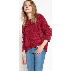 Sweter, okrągły dekolt, gruba dzianina. Szare swetry chłopięce La Redoute Collections, z dzianiny, z okrągłym kołnierzem. Za 141,71 zł.