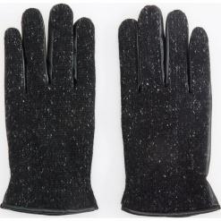 Rękawiczki z wełną - Czarny. Czarne rękawiczki męskie Reserved, z wełny. Za 69,99 zł.
