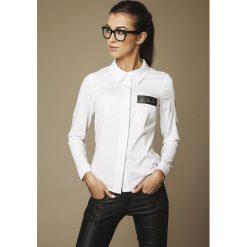 Bielizna damska: Biała klasyczna Koszula z Pajetami