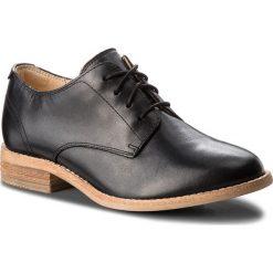 Oxfordy CLARKS - Edenvale Ash 261363034 Black Leather. Czarne jazzówki damskie Clarks, ze skóry, na płaskiej podeszwie. W wyprzedaży za 279,00 zł.