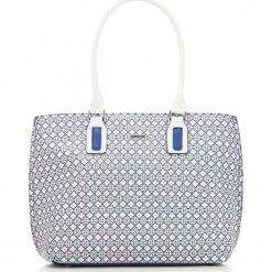 Torebka damska 86-4Y-109-X01. Białe shopper bag damskie Wittchen, w geometryczne wzory, z tłoczeniem. Za 179,00 zł.
