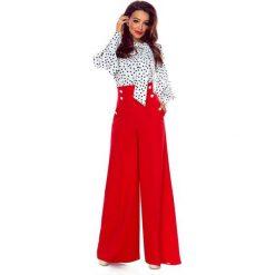 Eleganckie spodnie z wysokim stanem czerwone. Czerwone spodnie z wysokim stanem Bergamo. Za 249,99 zł.