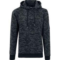 Bluzy męskie: Urban Classics Sweat Camo Bomber Hoodie Bluza z kapturem kamuflaż (Dark Camo)