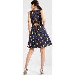 NAF NAF LICKTAIL  Sukienka letnia imprime. Niebieskie sukienki letnie marki NAF NAF, z bawełny. W wyprzedaży za 399,20 zł.