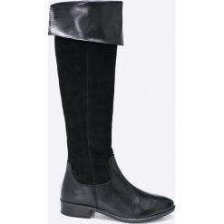 Caprice - Kozaki. Czarne buty zimowe damskie Caprice, z materiału, na obcasie. W wyprzedaży za 359,90 zł.