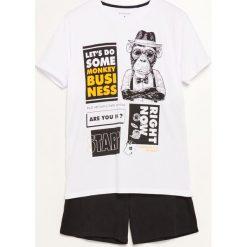 Piżama dwuczęściowa z szortami - Biały. Białe piżamy męskie marki Reserved, l. Za 59,99 zł.