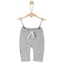 S.Oliver Spodnie Niemowlęce Z Pingwinami 50/56 Szary. Szare spodnie niemowlęce marki S.Oliver, z jeansu. Za 69,00 zł.