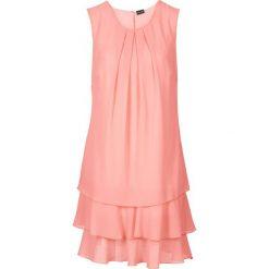 Sukienki: Sukienka szyfonowa bonprix jasny koralowy