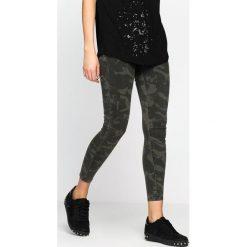 Spodnie damskie: Ciemnozielone-Moro Spodnie Spinning