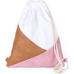 Torebki i plecaki damskie: Art of Polo Plecak damski Triangles biało-brązowo-różowy