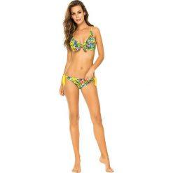 """Biustonosz bikini """"Maldives"""" w kolorze żółtym ze wzorem. Żółte biustonosze marki NABAIJI. W wyprzedaży za 121,95 zł."""
