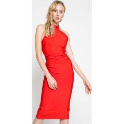 Missguided - Sukienka. Szare sukienki na komunię marki Missguided, na co dzień, z elastanu, casualowe, midi, dopasowane. W wyprzedaży za 199,90 zł.