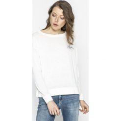 Pepe Jeans - Bluzka Palma. Szare bluzki z odkrytymi ramionami Pepe Jeans, l, z bawełny, casualowe, z okrągłym kołnierzem. W wyprzedaży za 139,90 zł.