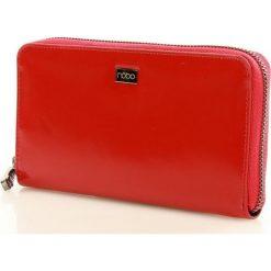 NOBO Duży portfel piórnik czerwony MARIE. Czerwone portfele damskie marki Nobo, ze skóry. Za 155,00 zł.