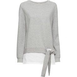 Bluza dresowa bonprix jasnoszary melanż - biały. Białe bluzy damskie bonprix, melanż, z dresówki. Za 74,99 zł.