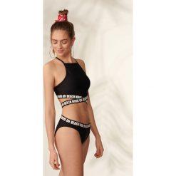 Bikini: Dwuczęściowy strój kąpielowy z taśmami - Czarny