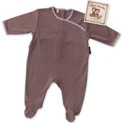 Pajacyki niemowlęce: Śpioszki w kolorze brązowym