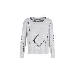 Swetry Desigual  TADAO. Szare swetry klasyczne damskie Desigual, l. Za 311,35 zł.