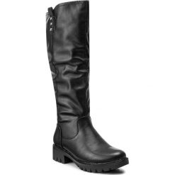 Kozaki JENNY FAIRY - SWYL1041A-5 Czarny. Czarne buty zimowe damskie Jenny Fairy, z materiału. Za 169,99 zł.