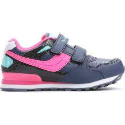 Granatowe Buty Sportowe Go Up. Niebieskie buty sportowe dziewczęce marki Born2be, z materiału, z okrągłym noskiem. Za 59,99 zł.
