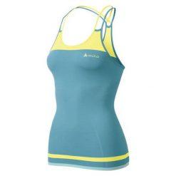 Bluzki sportowe damskie: Odlo Koszulka damska Evolution Light Trend niebiesko-żółta r. XS (181141)