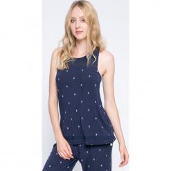 Dkny - Top piżamowy. Szare piżamy damskie marki DKNY, m, z dzianiny. W wyprzedaży za 99,90 zł.