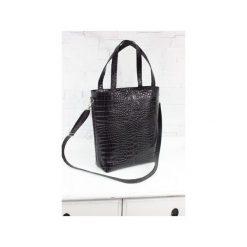 Skórzana Shopper Verona czarny krokodyl. Czarne shopper bag damskie Fabiola, w paski, ze skóry, duże. Za 275,00 zł.