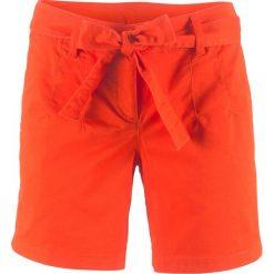 Szorty ze stretchem bonprix głęboki pomarańczowy. Brązowe bermudy damskie bonprix. Za 32,99 zł.