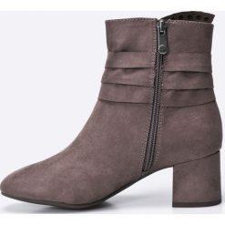 Marco Tozzi - Botki. Szare buty zimowe damskie marki Marco Tozzi, z materiału. W wyprzedaży za 129,90 zł.