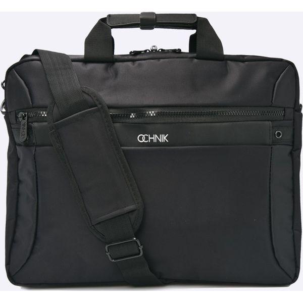 a58e9d2ae667d Ochnik - Torba - Czarne torby na laptopa marki Ochnik, w paski, z  materiału. W wyprzedaży za 99,90 zł. - Torby na laptopa - Torby i plecaki -  myBaze.com