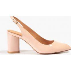 Buty ślubne damskie: Czółenka różowo-pudrowe