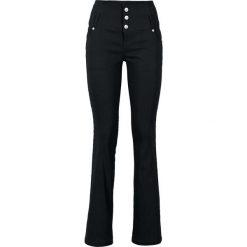 Spodnie z bengaliny ze stretchem bonprix czarny. Czarne spodnie z wysokim stanem bonprix. Za 129,99 zł.