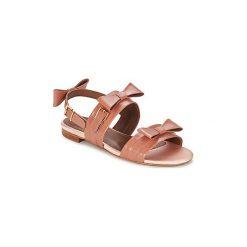 Sandały Sonia Rykiel  668124-40. Brązowe sandały trekkingowe damskie Sonia Rykiel. Za 986,30 zł.