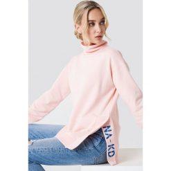 Bluzy damskie: NA-KD Trend Bluza z rozcięciami – Pink