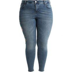 Boyfriendy damskie: Zizzi CROPPED AMY SUPER  Jeansy Slim Fit light blue denim