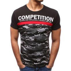 T-shirty męskie z nadrukiem: T-shirt męski z nadrukiem czarny (rx2772)