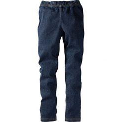 """Legginsy dżinsowe bonprix ciemnoniebieski """"stone"""". Czarne legginsy dziewczęce marki bonprix, w paski, z dresówki. Za 49,99 zł."""