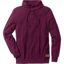 Swetry męskie: Sweter Regular Fit bonprix czerwony melanż