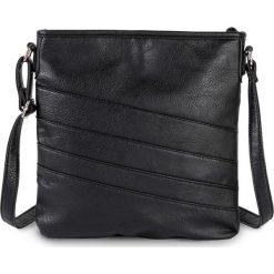 Torebka na ramię Basic bonprix czarny. Czarne torebki klasyczne damskie bonprix. Za 69,99 zł.