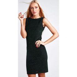 Zielona Sukienka z Odkrytymi Plecami 9475. Czarne sukienki koktajlowe marki Fasardi, m, z dresówki. Za 49,00 zł.