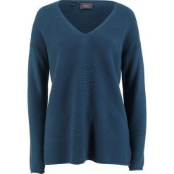 Sweter bonprix ciemnoniebieski. Niebieskie swetry klasyczne damskie bonprix. Za 37,99 zł.