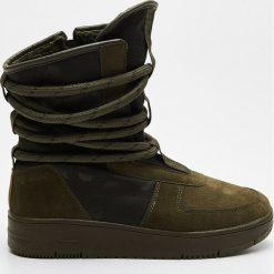 Buty zimowe damskie: Śniegowce - Khaki