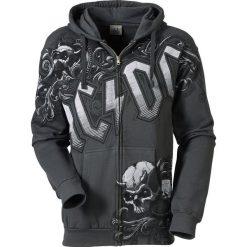 Bejsbolówki męskie: AC/DC Prowler Bluza z kapturem rozpinana ciemnoszary