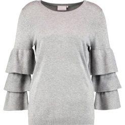 Swetry klasyczne damskie: Kaffe EVIE Sweter grey melange