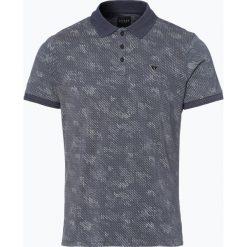 Guess Jeans - Męska koszulka polo, niebieski. Szare koszulki polo marki Guess Jeans, l, z aplikacjami, z bawełny. Za 229,95 zł.