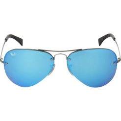 RayBan Okulary przeciwsłoneczne gunmetal. Szare okulary przeciwsłoneczne damskie marki Ray-Ban, z materiału. Za 619,00 zł.